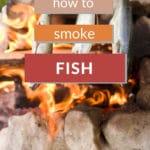 fish smoking over a campfire