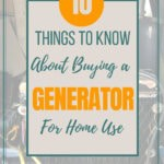 Buying a generator for your homestead or off grid cabin? Here are 10 things to know first. #generators #generatorforhomeuse #homesteading #offgridlife