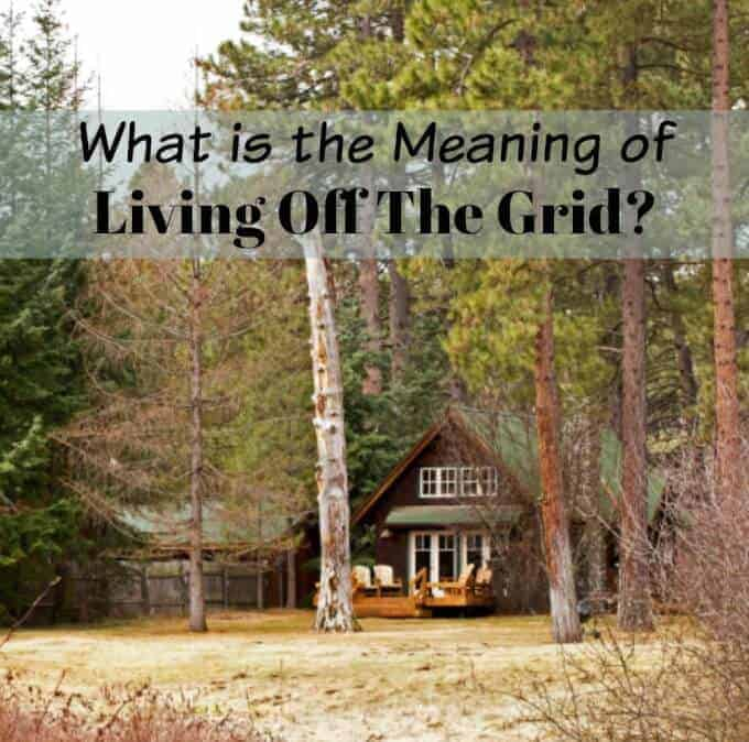 what is the meaning of living off the grid