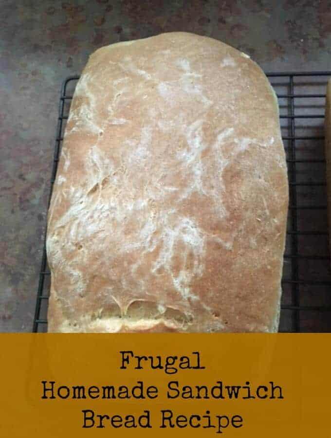 frugal homemade sandwich bread recipe