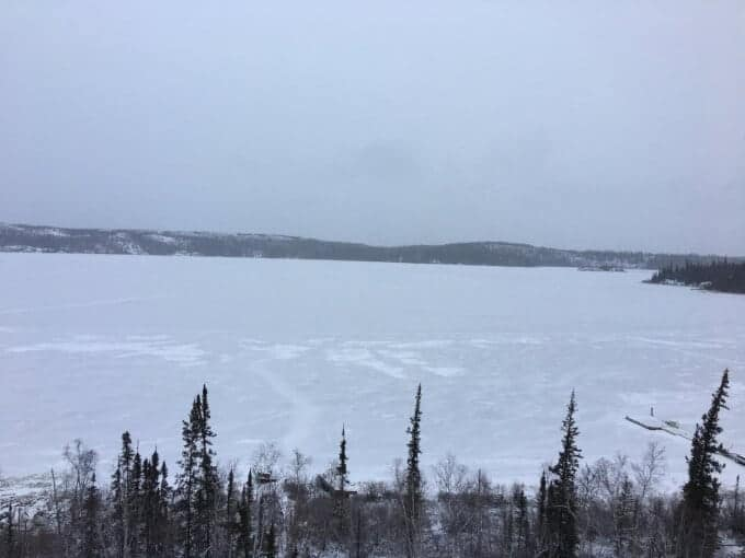 winter view from cabin
