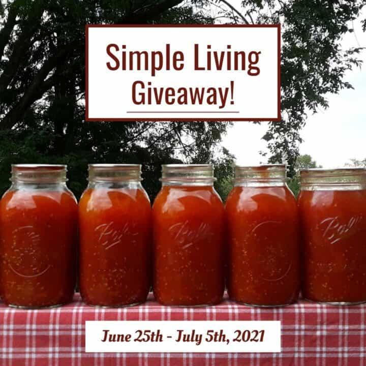 Simple Living Giveaway June 2021