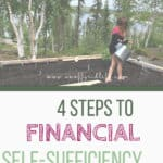 Learn the four steps needed for financial self-sufficiency on the homestead or off the grid. #financialselfsufficiency #selfsufficient #selfreliant #homesteading #homesteadingbudget #savingmoneyonthehomestead