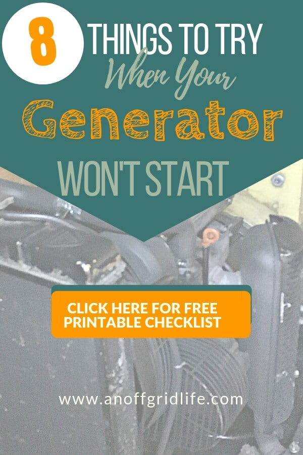8 Things to Try When Your Generator Won't Start