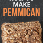 How to Make Pemmican text overlay on image of three pieces of pemmican