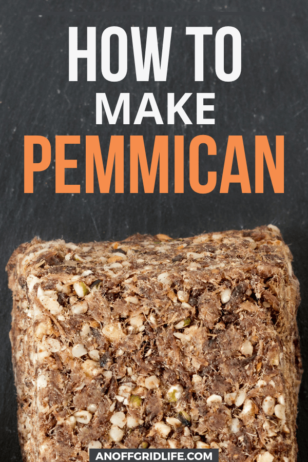 How to Make Pemmican text overlay on image of homemade pemmican