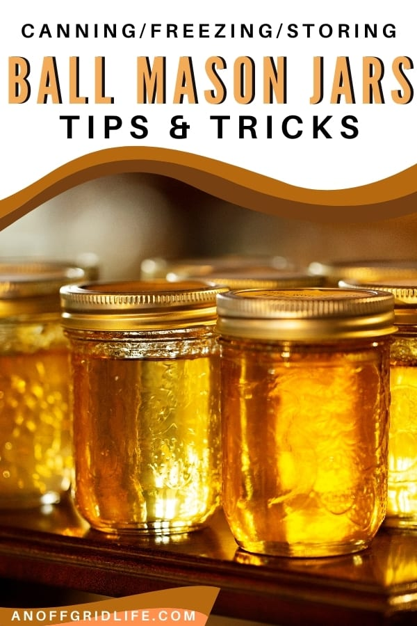 Mason jars with golden syrup and gold lids