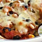 Chicken Salsa Black Bean Corn Casserole