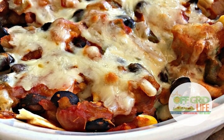 Chicken Salsa Black Bean Corn Casserole