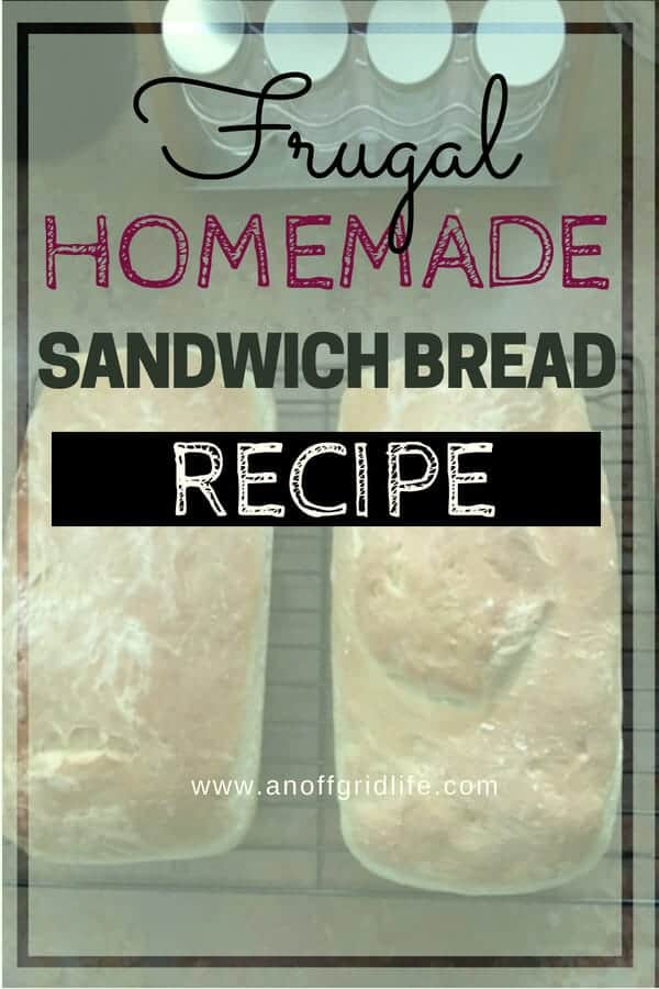 Frugal Homemade Bread Recipe #homemadebreadrecipe #frugalbreadrecipes #homemadesandwichbreadrecipe #bakingbread