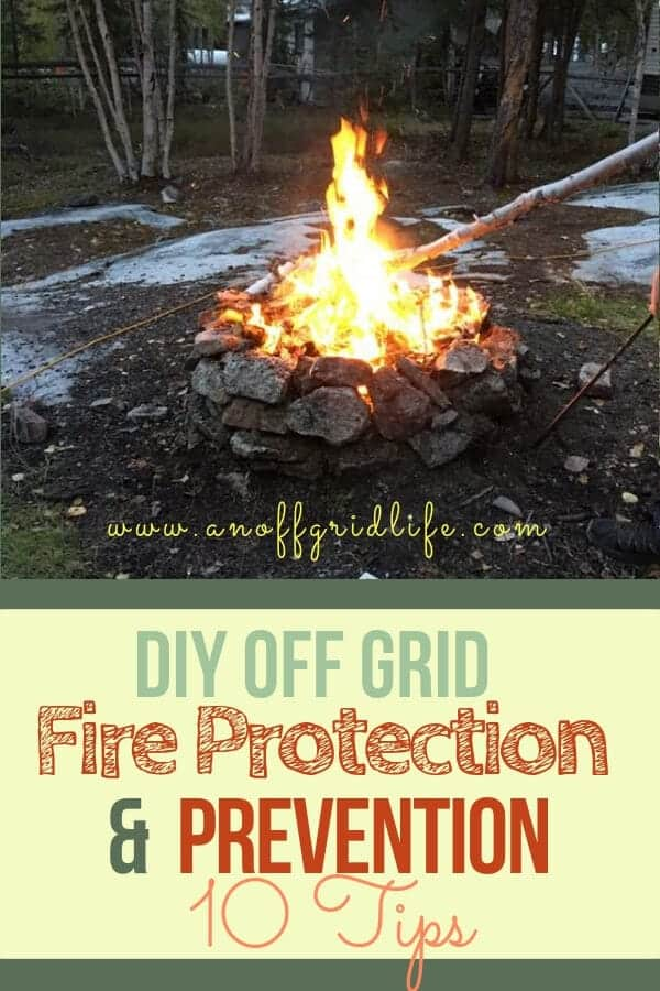 10 Tips for DIY Off Grid Fire Protection for Your Home's Exterior #diyoffgridfireprotection #offgridhacks #offthegrid #offgridcabins