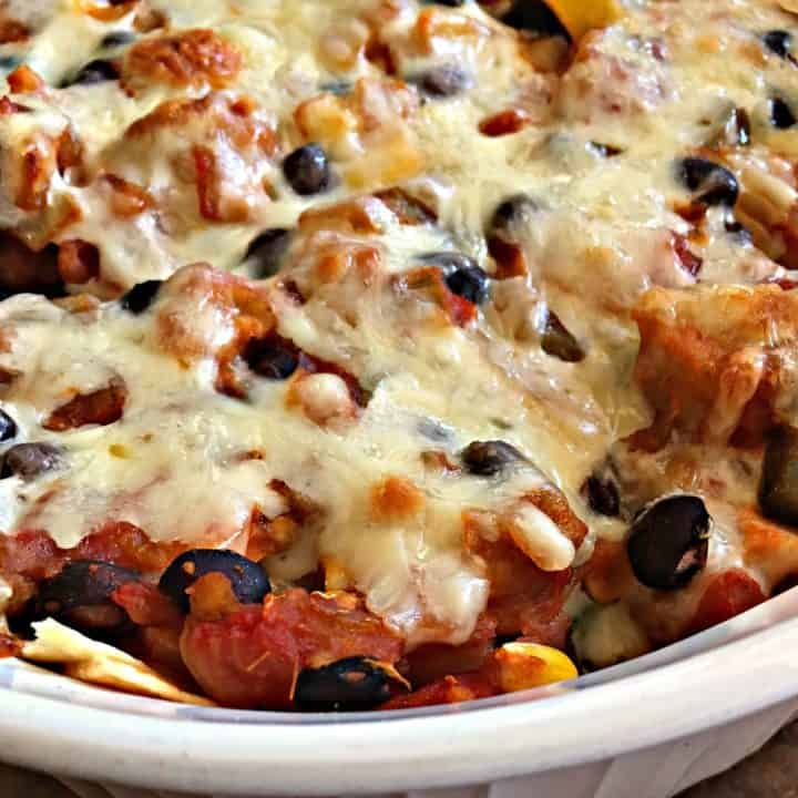 Chicken Black Bean Salsa Corn Casserole