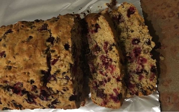 Cranberry Orange Loaf Slices