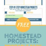 Learn how to plan and prioritize your homestead projects with these free printables. #homesteadprojects #homesteadideas #homesteading