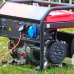 Portable generator outdoors on grass