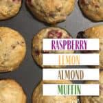 Raspberry Lemon Almond Muffin Recipe
