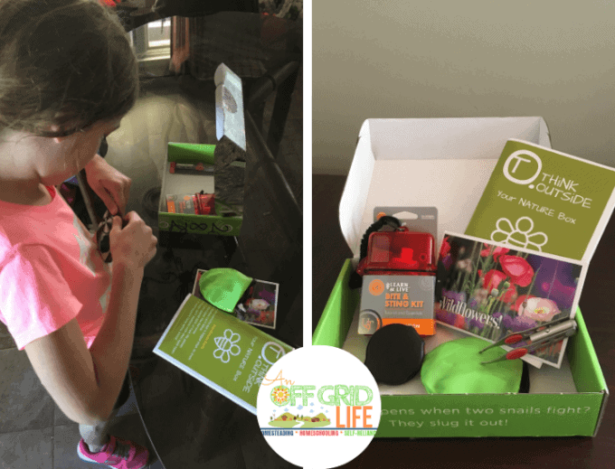 Kids Unboxing Think Outside Nature Box