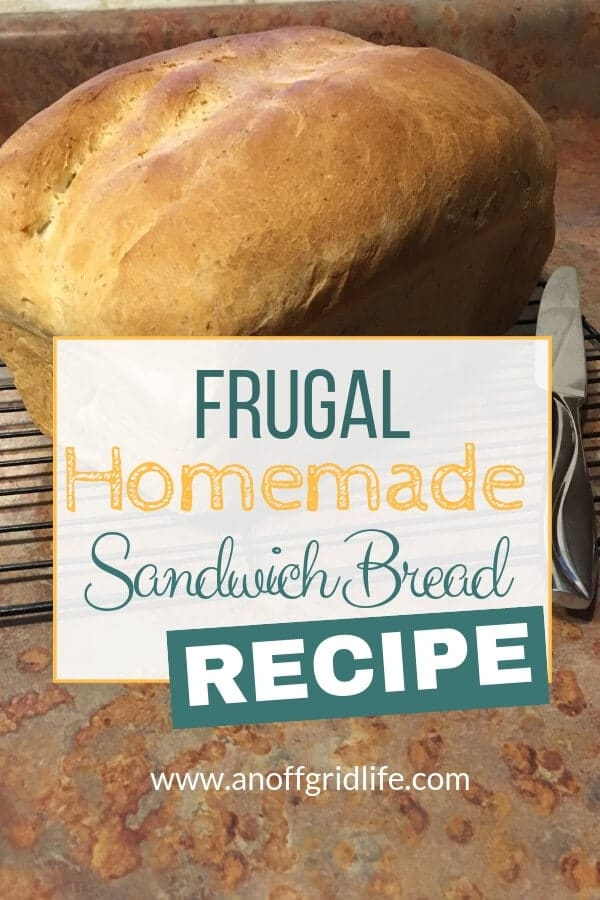 This frugal homemade sandwich bread recipe has saved our family hundreds of dollars over the years. #frugalsandwichbreadrecipe #breadrecipes #homemadebread