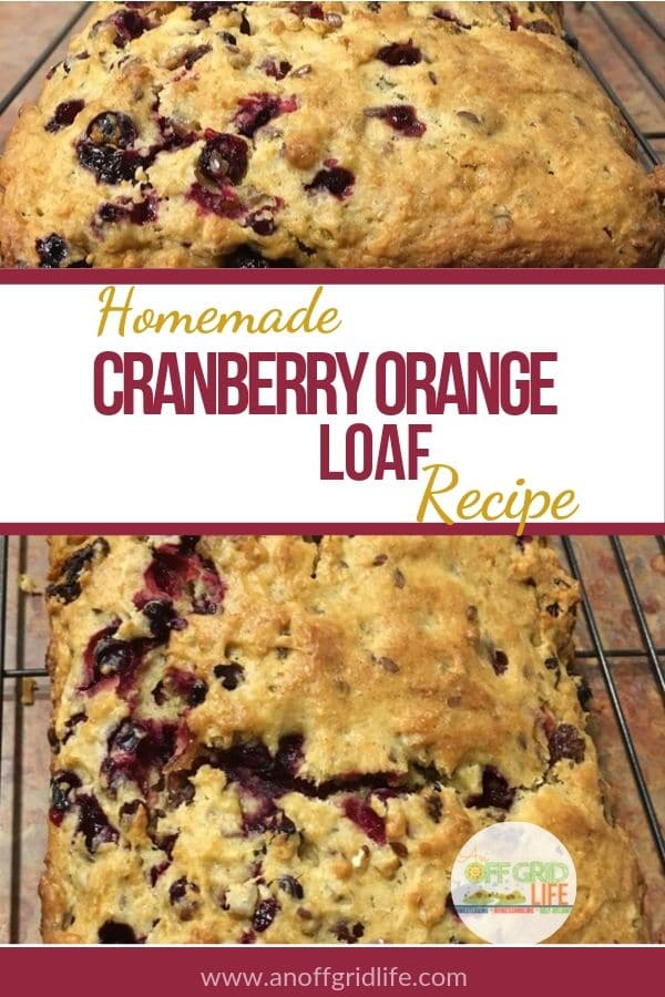 This homemade cranberry orange loaf recipe is a great way to use up leftover cranberry sauce and graham cracker crumbs too. #cranberryloaf #cranberrybreadsrecipes #cranberryrecipes