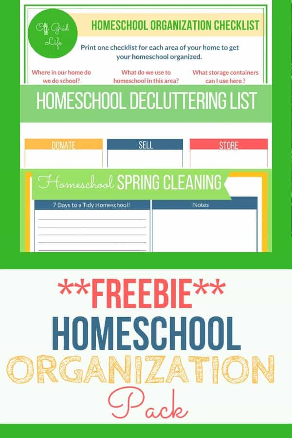 Organize Your Homeschool with these useful tips and the free printables in the handy homeschool organization pack. #homeschool #homeschoolorganization #homeschoolingideas