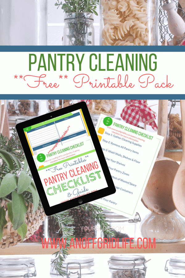 Pantry Cleaning Checklist & Free Printable Pack