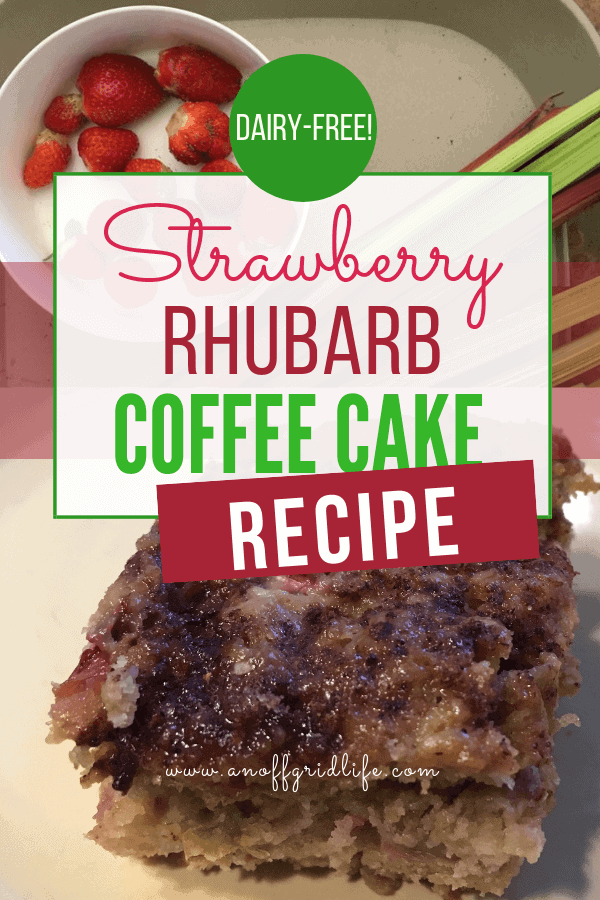 Dairy-free Strawberry Rhubarb Coffee Cake Recipe