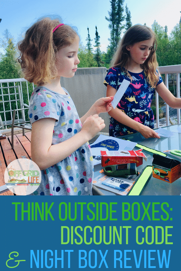 Grab your Think Outside Boxes Discount Code here and read my review of their Night Box to see how we're using it in our homeschool studies.