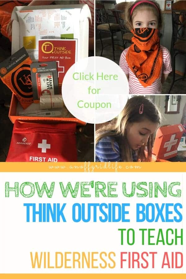 Think Outside Boxes Subscription Box: Teaching Wilderness First Aid