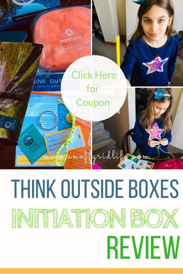Learn how to use a monthly subscription to THiNK OUTSiDE Boxes to get your family outside together. #thinkoutsideboxes #getoutside #outdoorfamilies