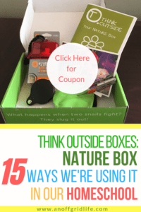 Think Outside Boxes Nature Box + Coupon Code
