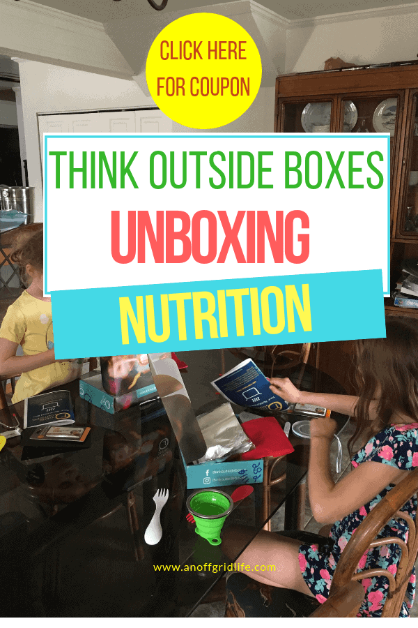 Think Outside Boxes The Nutrition Box & Coupon Code