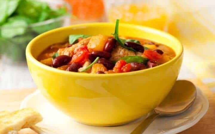 Bowl of Homemade Vegetable Soup
