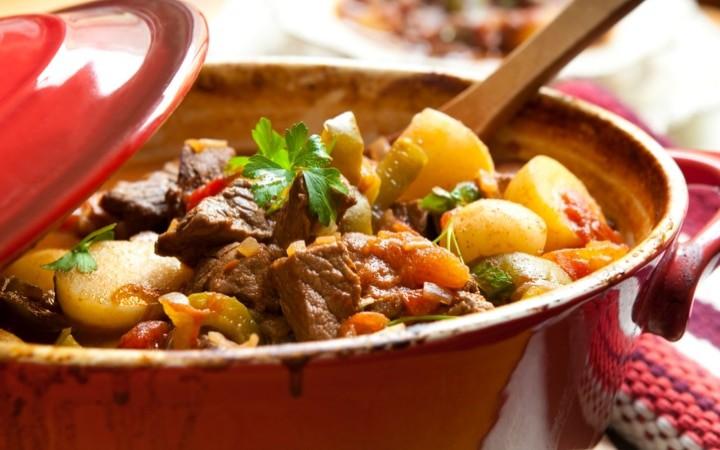Venison Stew in Cast Iron Dutch Oven