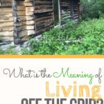What is the meaning of living off the grid? As it turns out, there's more than one definition floating around. #livingoffthegrid #offthegrid #offgridlife #offgridideas