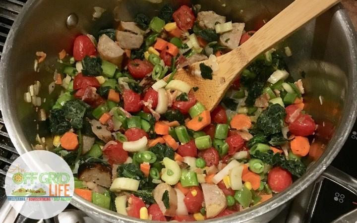 White bean kale soup with sausage recipe ingredients