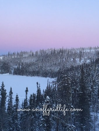 Sticking to our off grid home winter routine helps our family survive the frigid temperatures in Canada's far north. Here's what we do each day to keep things going. #offgridhomes #offgridhacks #offgridlife