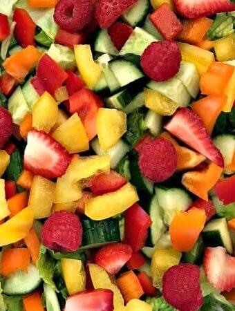 Strawberry Salad Recipes: Wild Strawberry Mixed Greens Spring Salad Recipe #strawberryrecipes #strawberrysaladrecipes